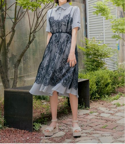 CHUU シャンゼリゼ slip+dress set