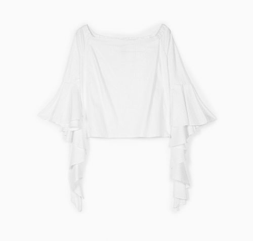 Stradivarius Shirt with sleeve frill detail