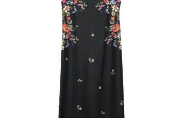 Stradivarius Long floral print dress with thin straps
