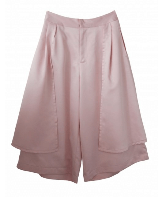 Honey mi Honey satin peplum gaucho pants