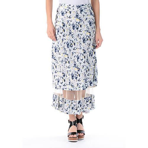 TOGA PULLA Acetate print skirt