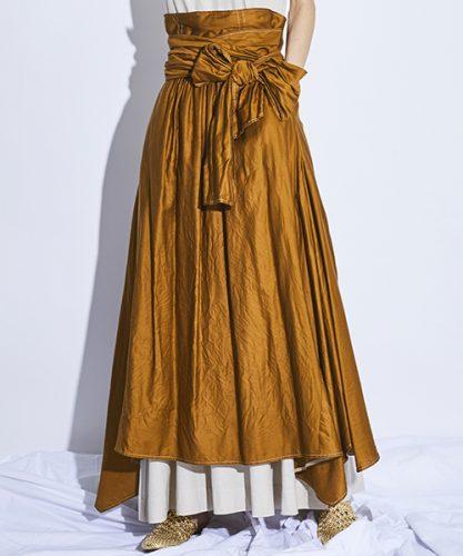 STUDIOUS HIGH ハイウエストリボンスカート