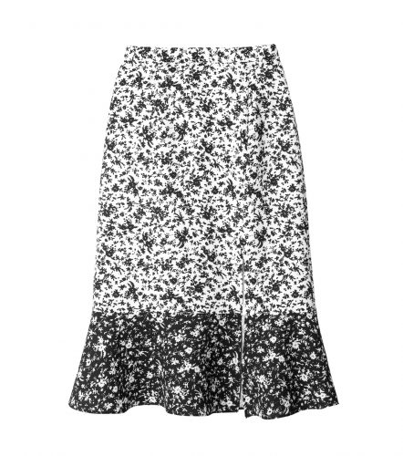 LE CIEL BLEU パターンミックススリットフレアスカート