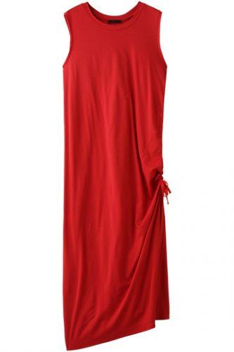 AULA SIDE STRING LONG DRESS