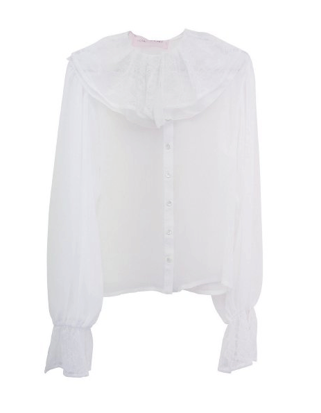 Honey mi Honey lace collar blouse