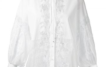 ERMANNO SCERVINO lace panel blouse