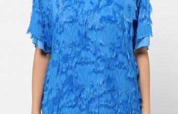CARVEN FRINGED JACQUARD TOP