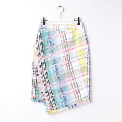 Ravissant Laviere ファンシーツイードスカート
