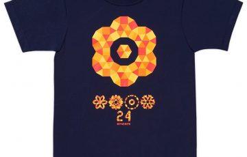 日本テレビサービス 24時間テレビ 40 チャリ Tシャツ 2017 紺