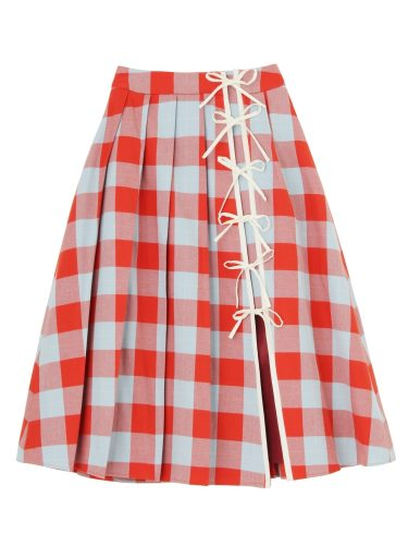 PAMEO POSE CASA VICENS PLAID SKIRT