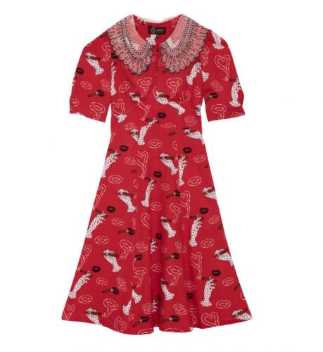 Sretsis ALICIA RUFFLE COLLAR DRESS