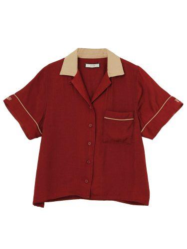 jouetie パイピングボーリングシャツ