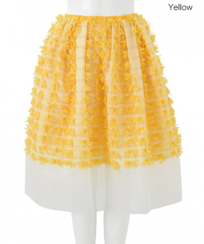 Chesty Ribbon Fringe Skirt