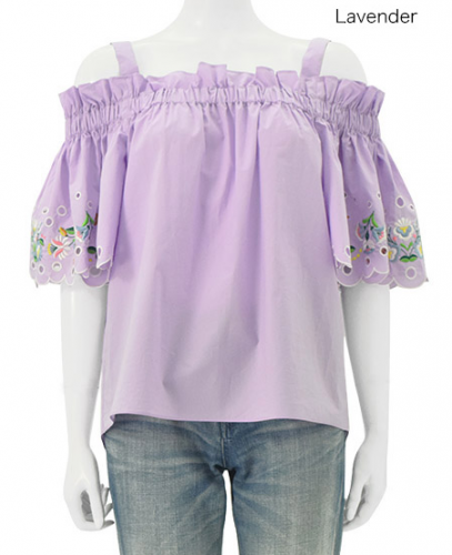 Chesty Embroidery Off-Shoulder Tops