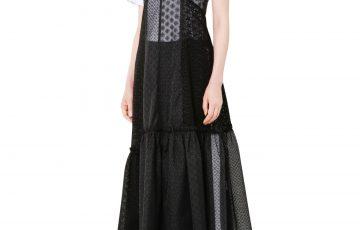 LE CIEL BLEU パッチワークレースドレス