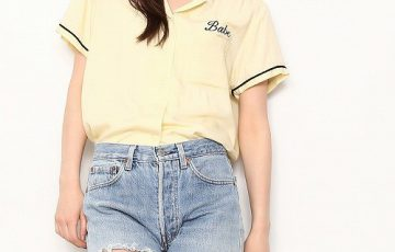Bonjour Girl Bonjour Girl Bowling shirt