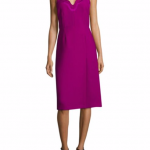 Carven Scalloped Neckline Dress