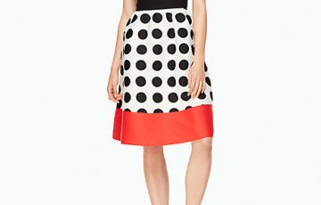 kate spade new york grid dot colorblock dress