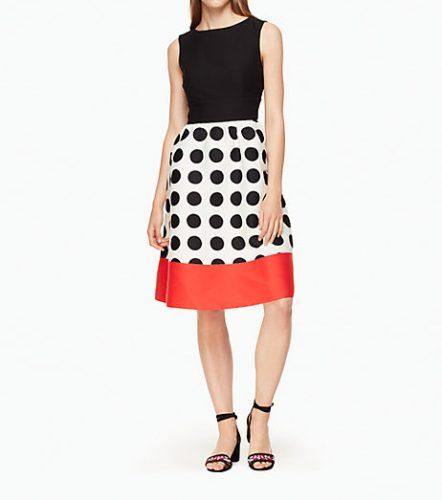 kate spade new york grid dot colorblock dress