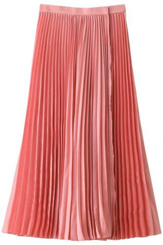 LE CIEL BLEU ラッププリーツスカート