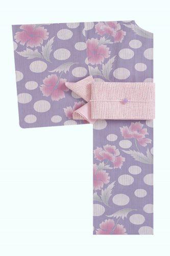 きもの やまと 【花水紋】紫