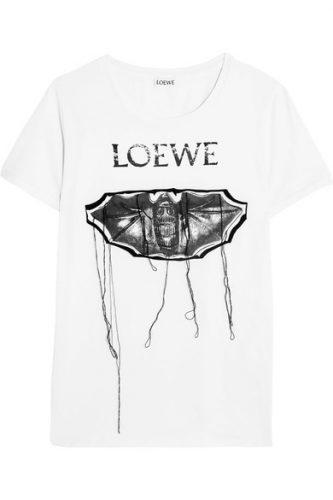 LOEWE ホワイト バット T シャツ