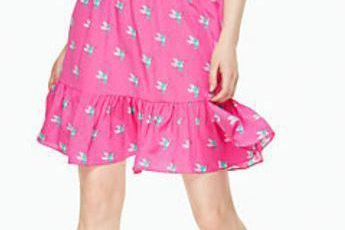 kate spade new york hummingbird ruffle dress