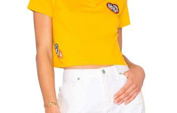 Tommy Hilfiger パッチワーク クロップポロシャツ