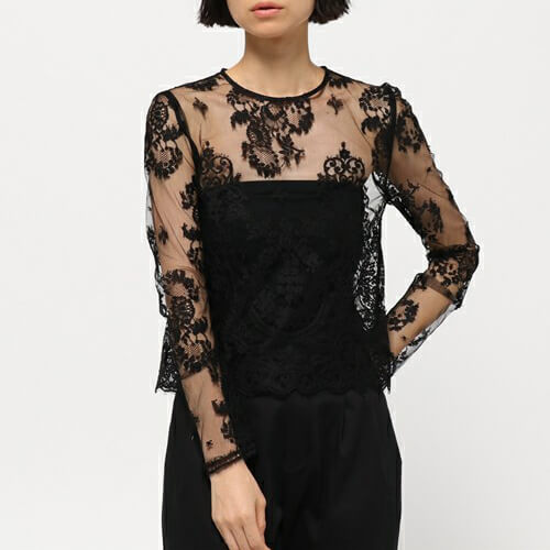 AULA LEAVER LACE BLOUSE