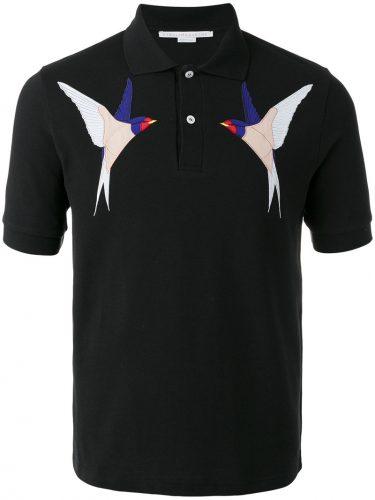 STELLA MCCARTNEY バード刺繍 ポロシャツ