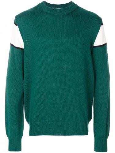 MSGM インターシャロゴ セーター