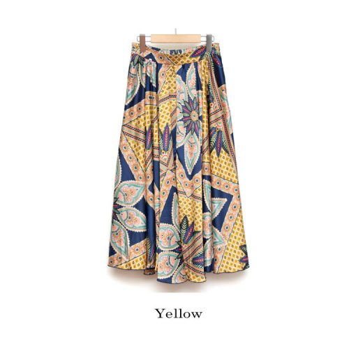 furryrate アフリカンスカーフギャザースカート