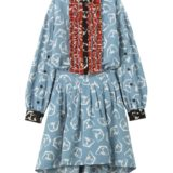 PAMEO POSE THREE GODS PATTERN DRESS