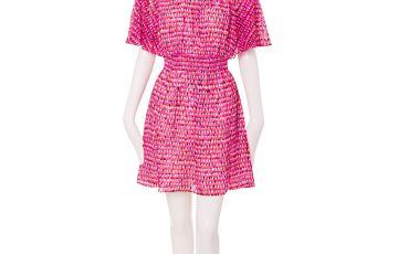 kate spade new york HAUTE STUFF PINATA FLUTTER SLEEVE DRESS