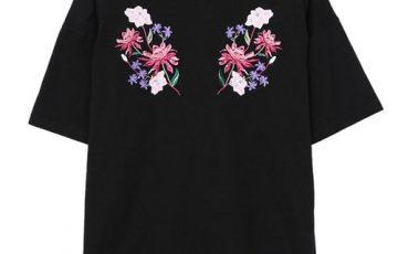 EVRIS SYMMETRY FLOWER Tシャツ