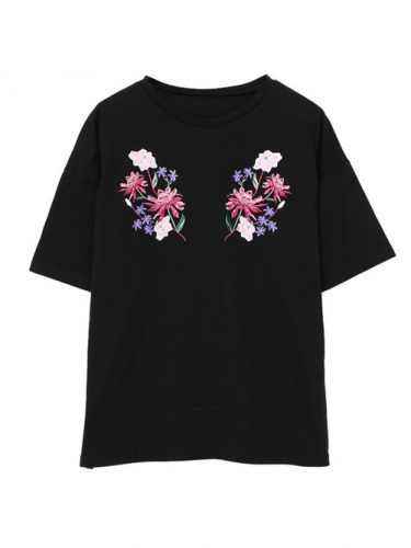 EVRIS SYMMETRY FLOWER Tシャツ