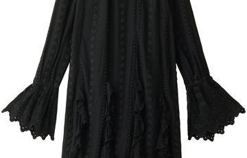ne Quittez pas ヌキテパ カットワークレース刺繍ワンピース ブラック