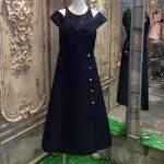 DISAYA ドリーミングセイラーオープンショルダーボタンドレス