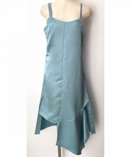 lilLilly サテンカッティングドレス