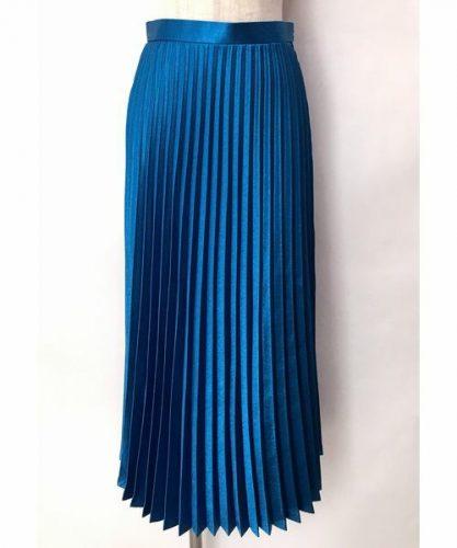 lilLilly メタリックプリーツスカート