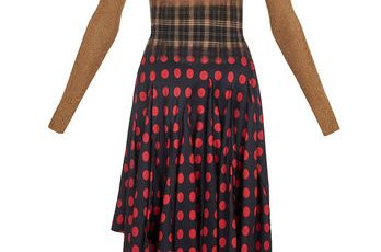 LOEWE Needle Punch Dress Multicolour