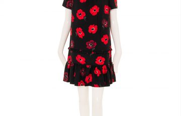 kate spade new york OOH LA LA POPPY RUFFLE SHIFT DRESS