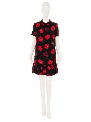 kate spade new york OOH LA LA POPPY RUFFLE SHIFT DRESS