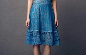 TADASHI SHOJI ノースリーブレース ミディアムドレス