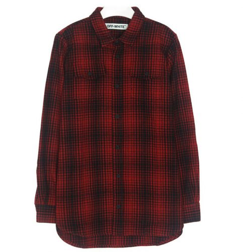 Off-White TARTAN SHIRT RED/BLACK DIAG