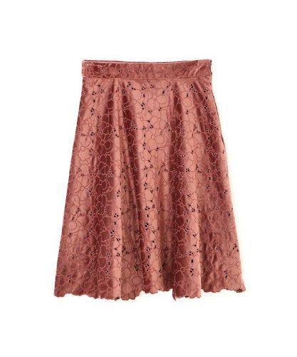 PROPORTION BODY DRESSING スムースベロアエンブロイダリーフレアスカート