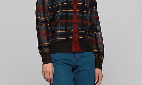 【ぴったんこカン・カン】市川実日子の衣装(チェックカーデ・トップス・スカート)