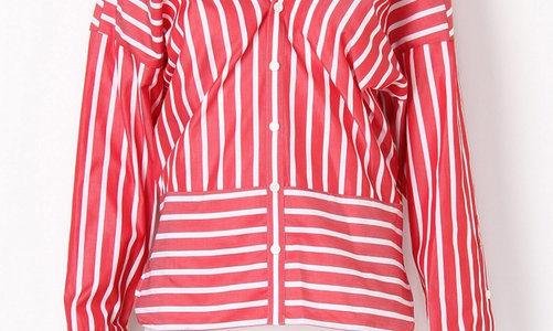【シンバイオティクス ヤクルトW】川口春奈のCM衣装(ストライプシャツ)のブランドは?