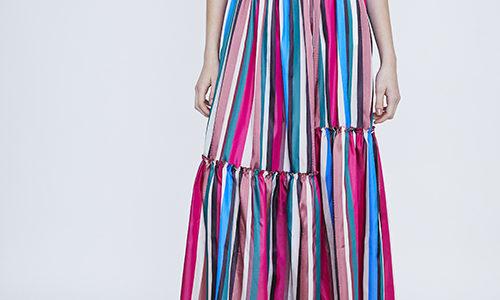 【浅田真央展】真央ちゃんの衣装(マルチストライプスカート)のブランドは?